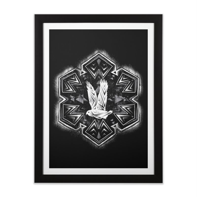 Snow Owl Home Framed Fine Art Print by Qetza
