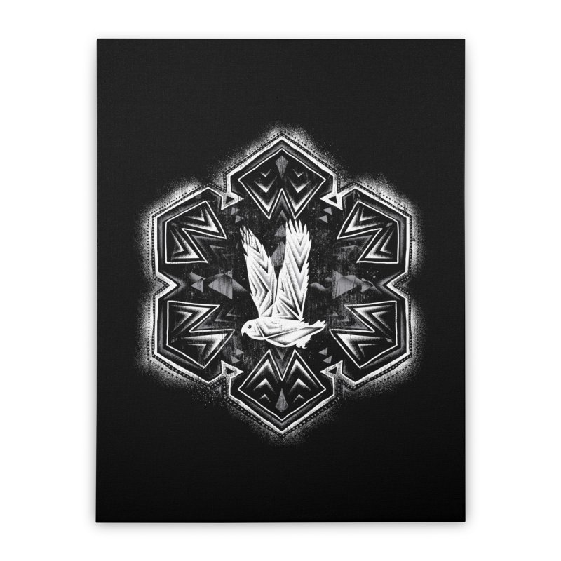 Snow Owl Home Stretched Canvas by Qetza