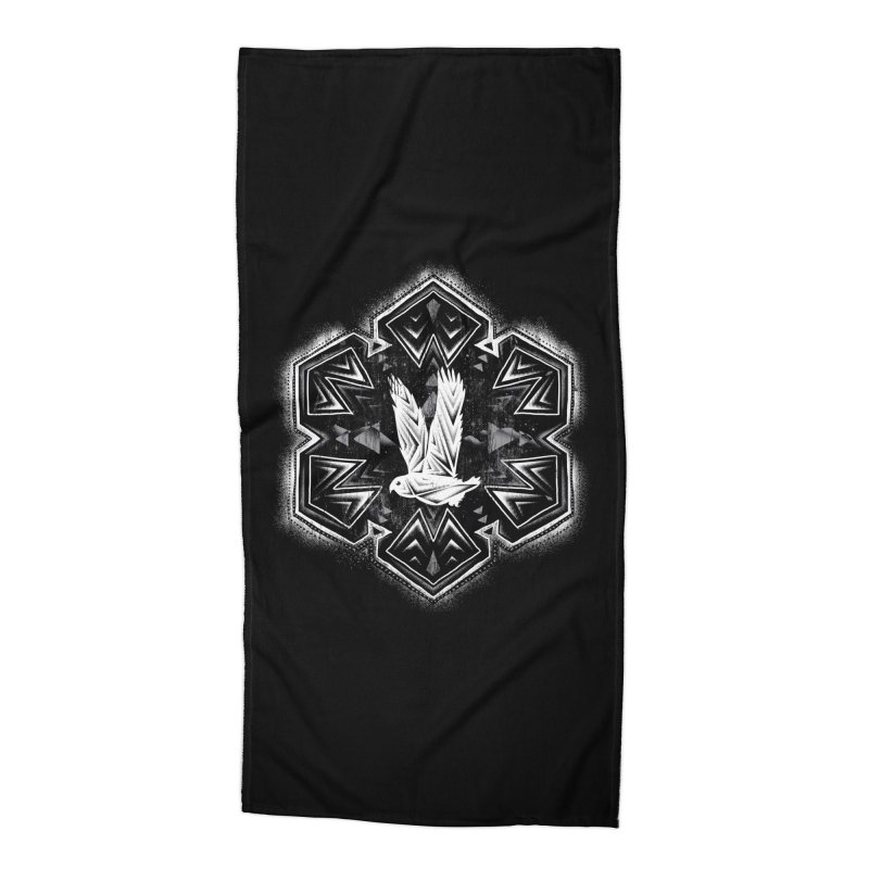 Snow Owl Accessories Beach Towel by Qetza