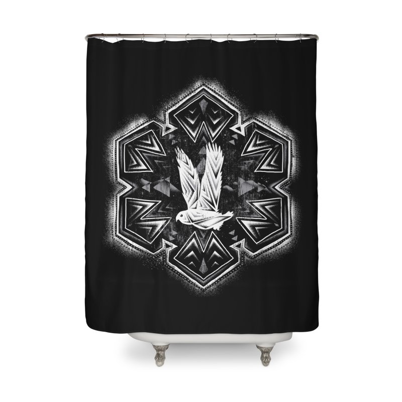 Snow Owl Home Shower Curtain by Qetza