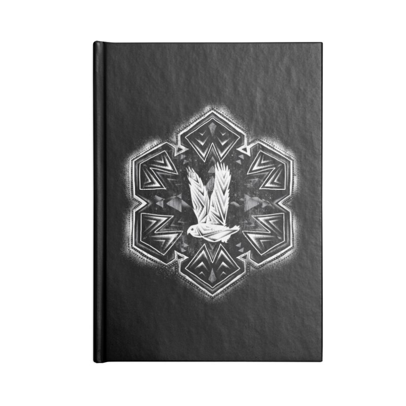 Snow Owl Accessories Notebook by Qetza