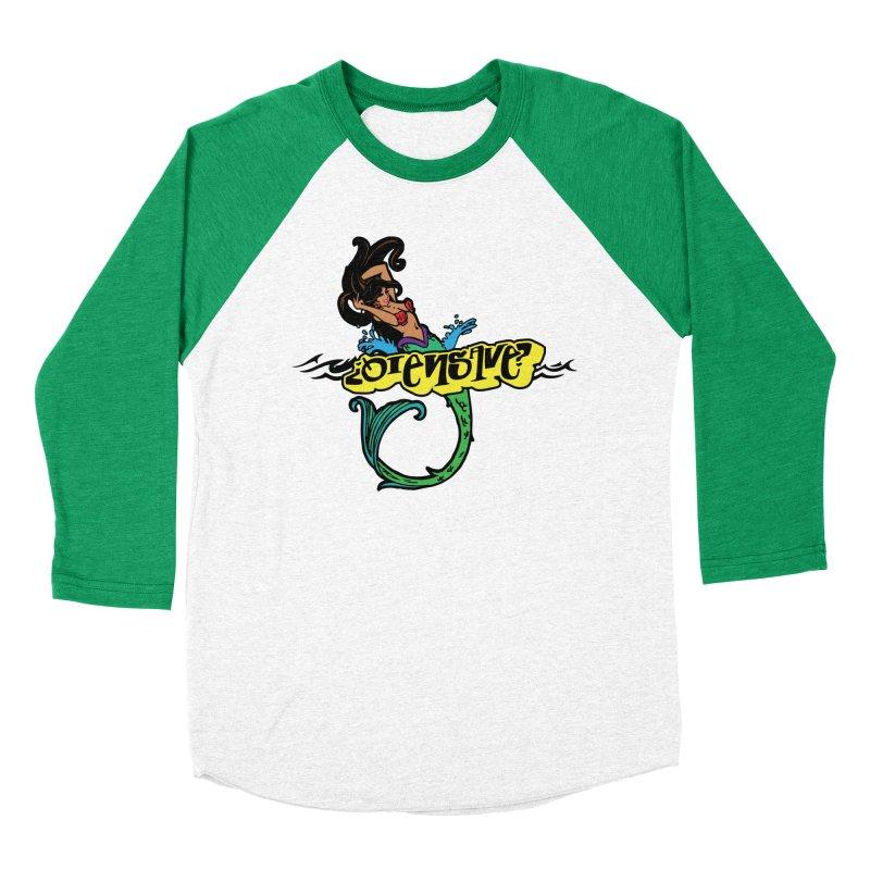 Sirena Women's Baseball Triblend Longsleeve T-Shirt by Qiensave Merchandise