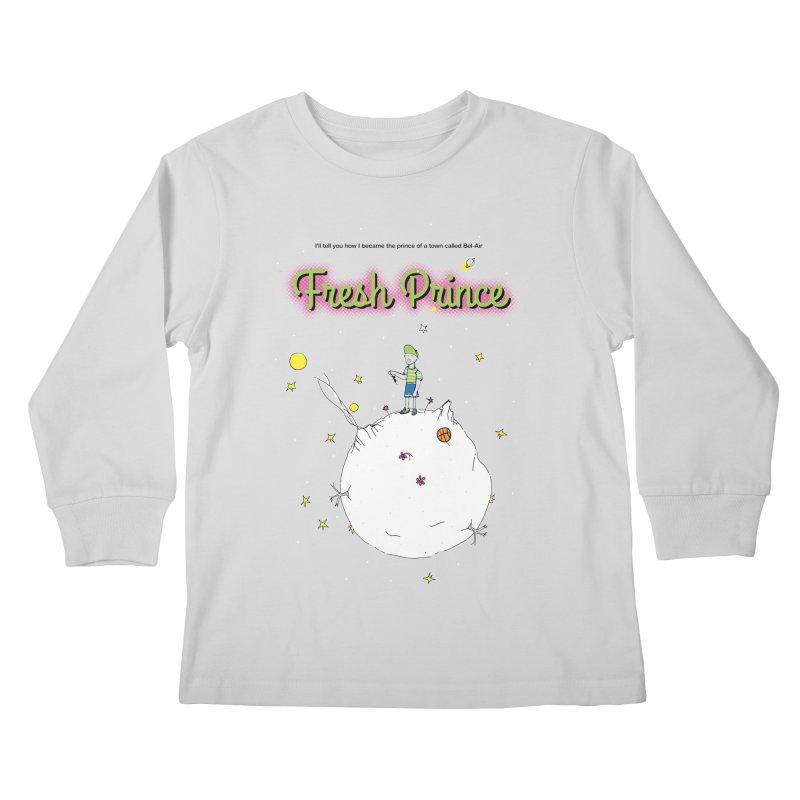 The Little Fresh Prince of Bel Air Kids Longsleeve T-Shirt by quadrin's Artist Shop