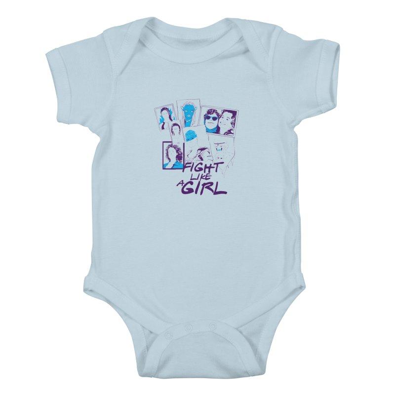Fight Like a Girl Kids Baby Bodysuit by quadrin's Artist Shop