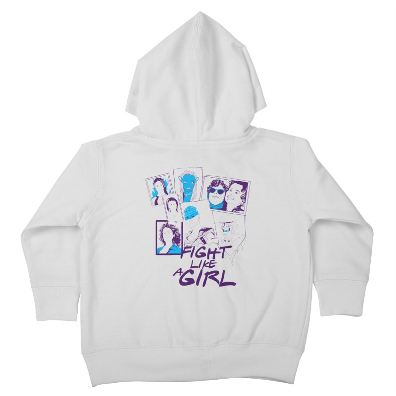Fight Like a Girl Kids Toddler Zip-Up Hoody by quadrin's Artist Shop