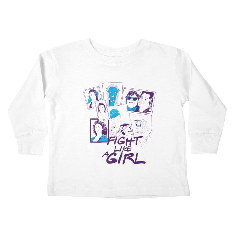 Fight Like a Girl Kids Toddler Longsleeve T-Shirt by quadrin's Artist Shop