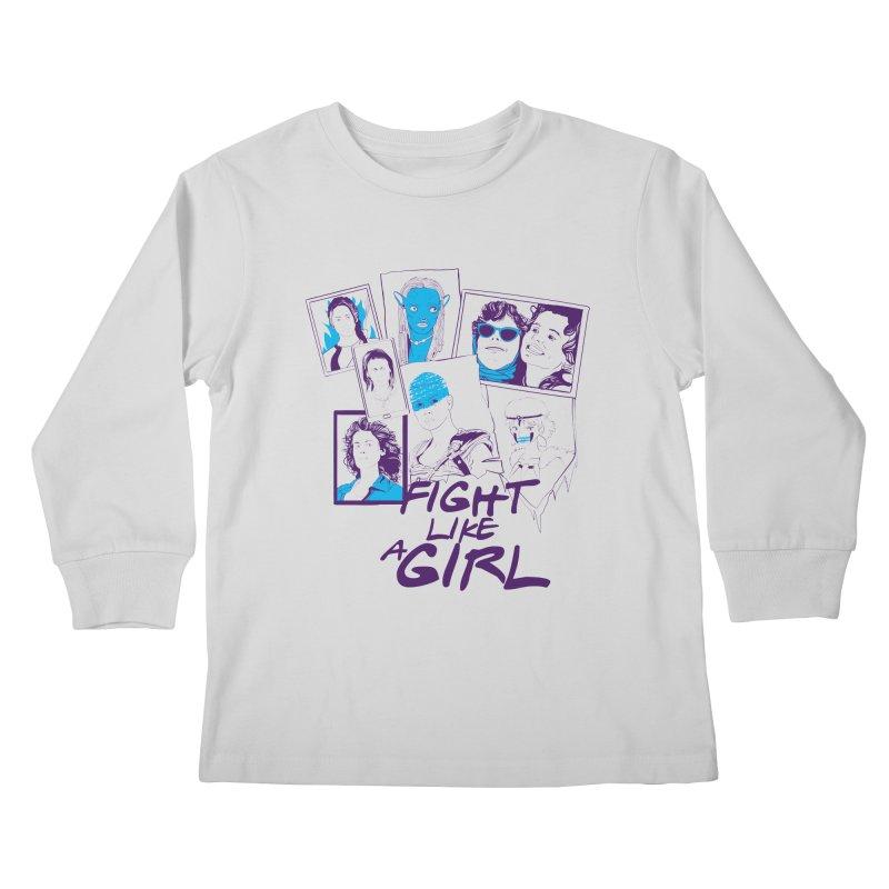 Fight Like a Girl Kids Longsleeve T-Shirt by quadrin's Artist Shop