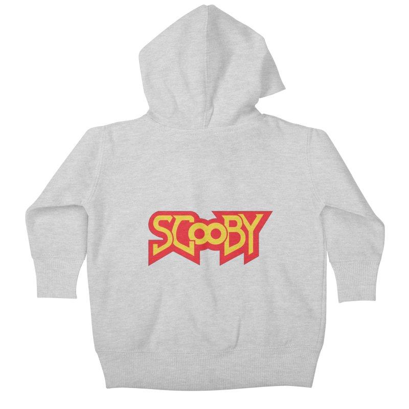 HellScooby Kids Baby Zip-Up Hoody by quadrin's Artist Shop