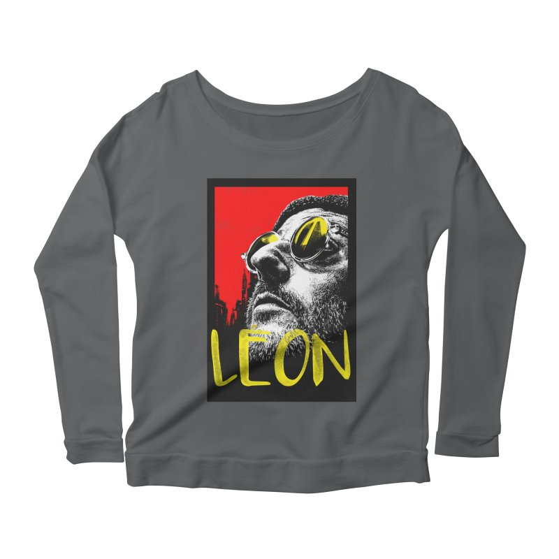 Léon Women's Scoop Neck Longsleeve T-Shirt by quadrin's Artist Shop