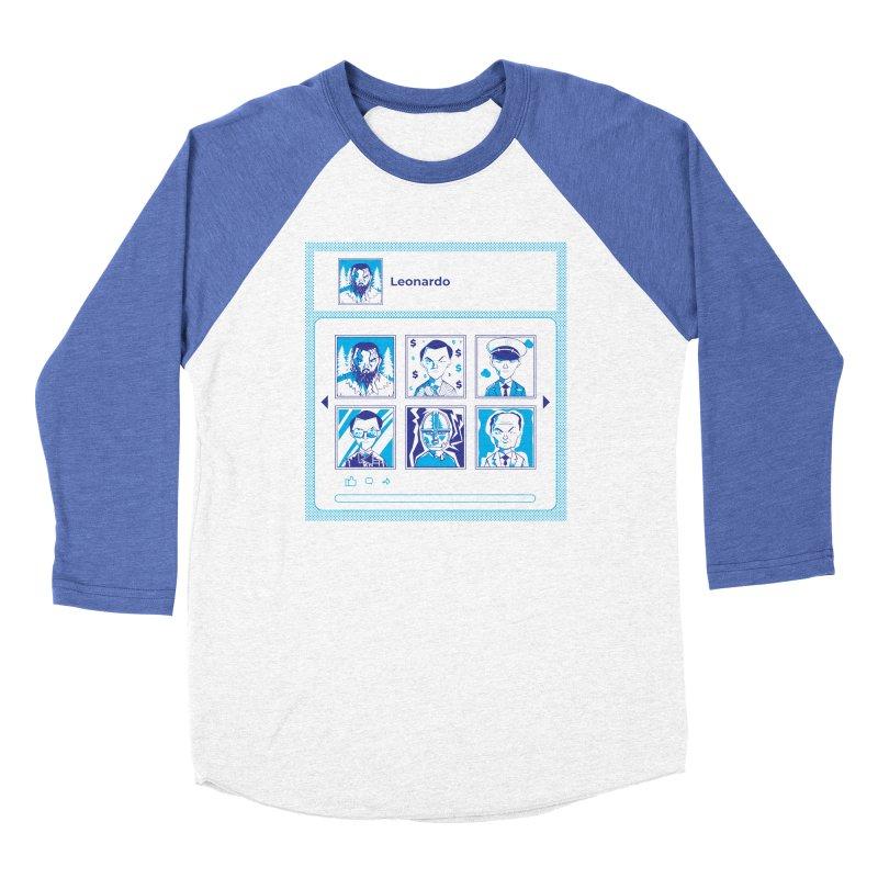 Leonardo DiCaprio Women's Baseball Triblend Longsleeve T-Shirt by quadrin's Artist Shop