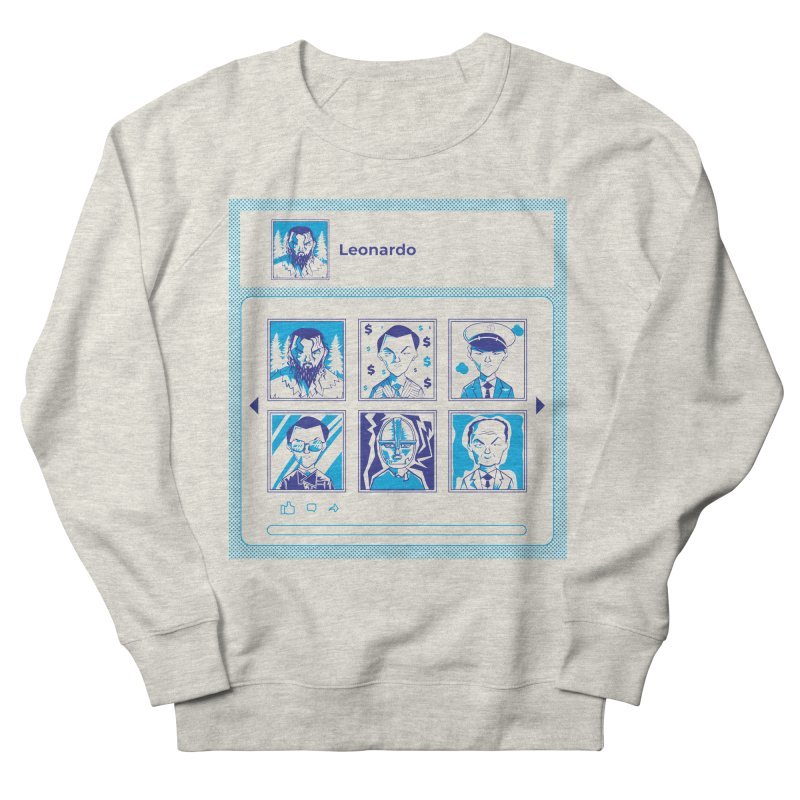 Leonardo DiCaprio Women's French Terry Sweatshirt by quadrin's Artist Shop
