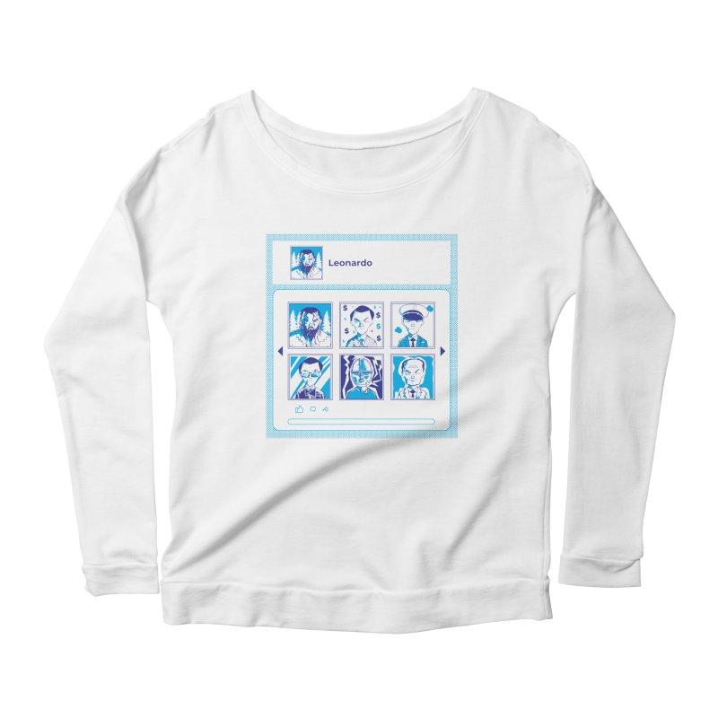 Leonardo DiCaprio Women's Scoop Neck Longsleeve T-Shirt by quadrin's Artist Shop
