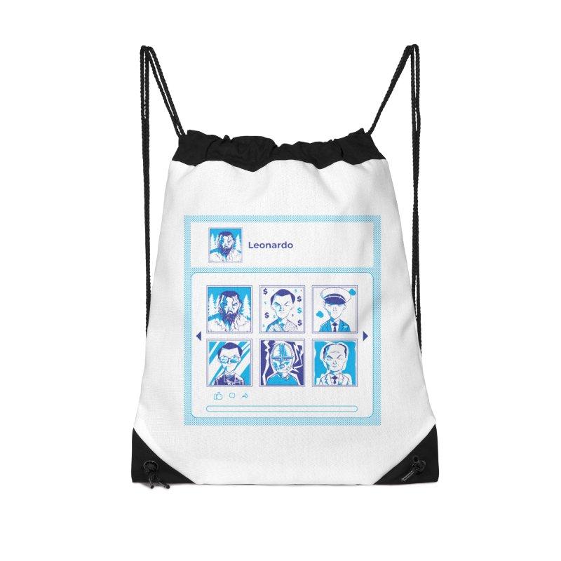 Leonardo DiCaprio Accessories Drawstring Bag Bag by quadrin's Artist Shop