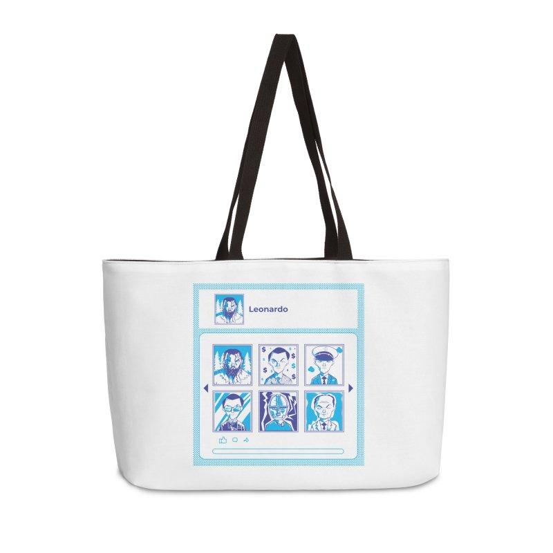 Leonardo DiCaprio Accessories Weekender Bag Bag by quadrin's Artist Shop