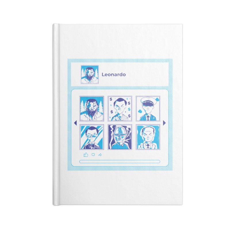 Leonardo DiCaprio Accessories Lined Journal Notebook by quadrin's Artist Shop