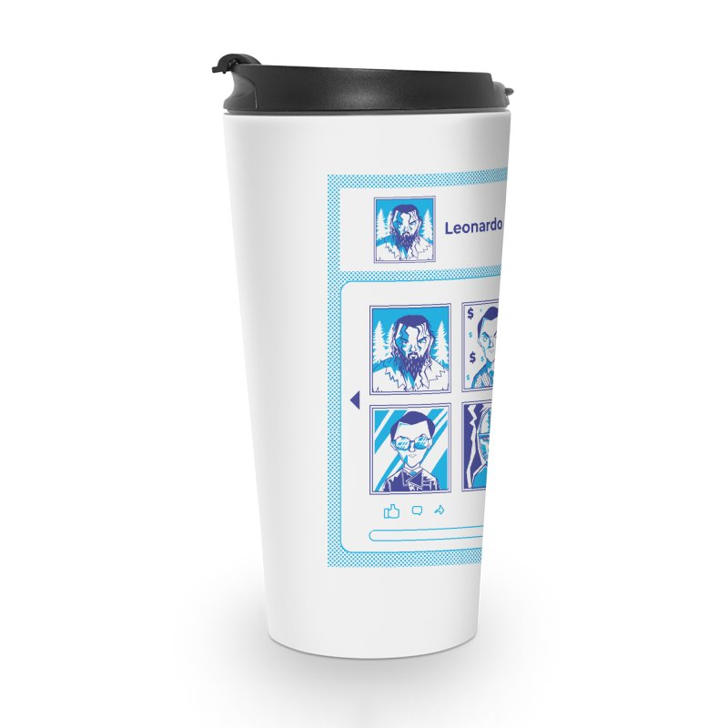 Leonardo DiCaprio Accessories Travel Mug by quadrin's Artist Shop