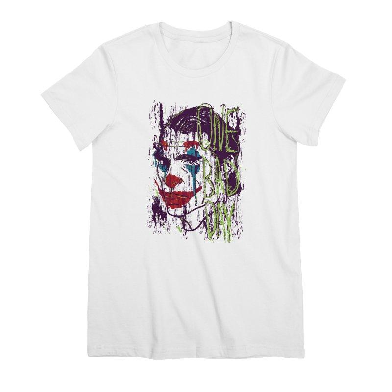 One Bad Day - Joker Women's Premium T-Shirt by quadrin's Artist Shop
