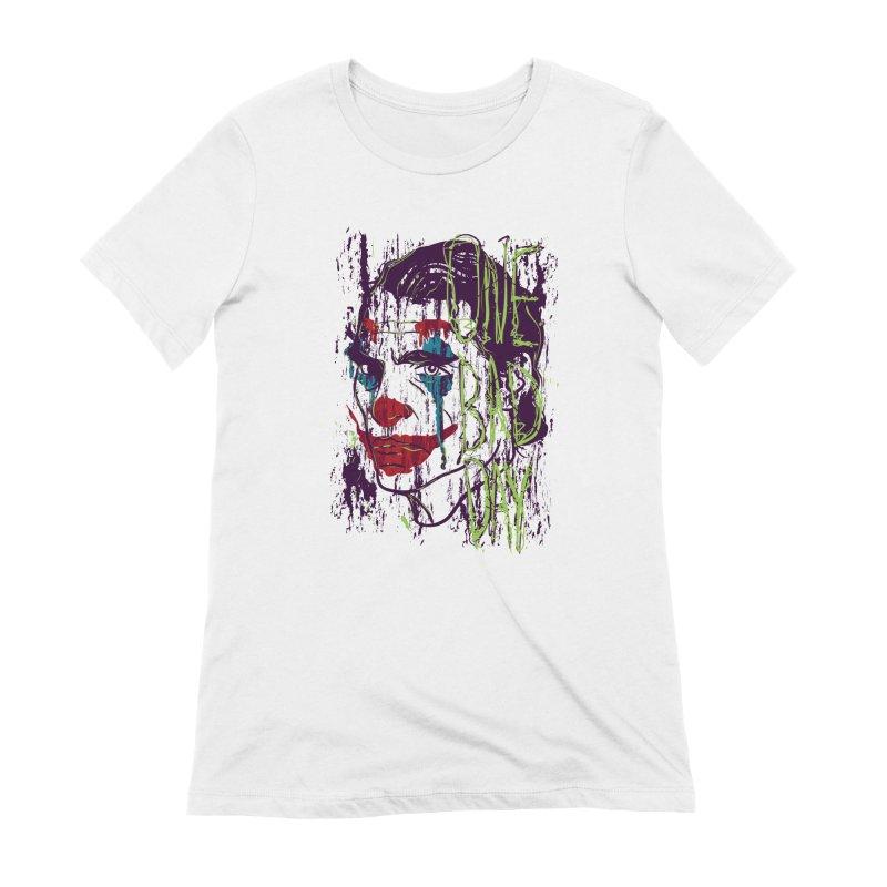 One Bad Day - Joker Women's Extra Soft T-Shirt by quadrin's Artist Shop