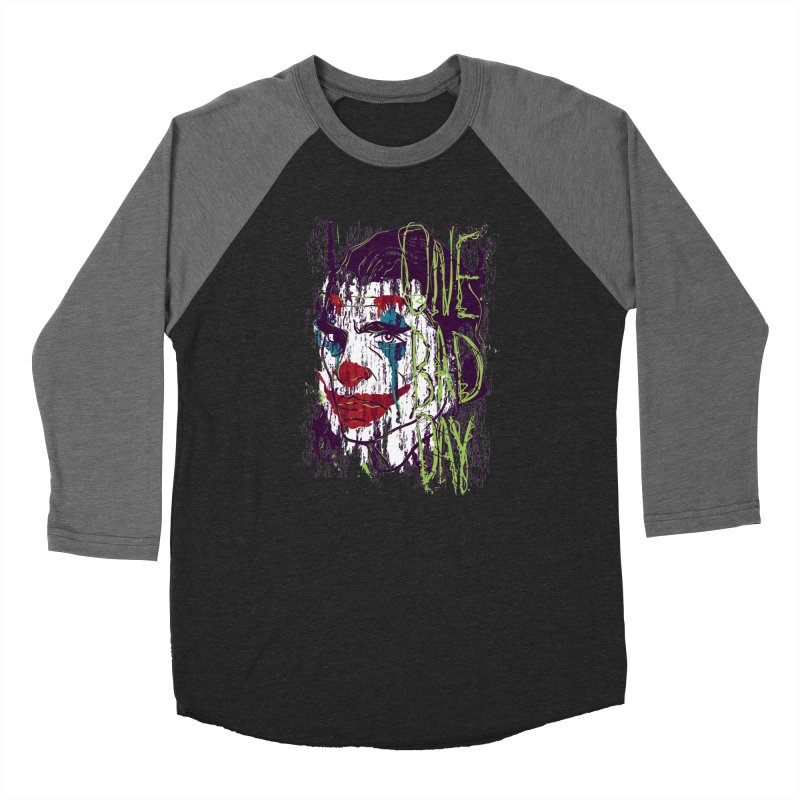 One Bad Day - Joker Men's Baseball Triblend Longsleeve T-Shirt by quadrin's Artist Shop