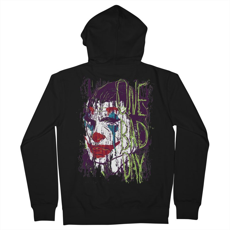 One Bad Day - Joker Women's French Terry Zip-Up Hoody by quadrin's Artist Shop