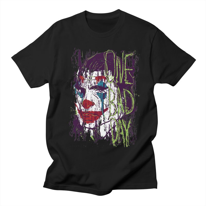 One Bad Day - Joker Women's Regular Unisex T-Shirt by quadrin's Artist Shop