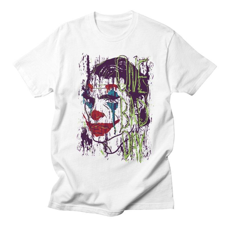 One Bad Day - Joker Men's Regular T-Shirt by quadrin's Artist Shop