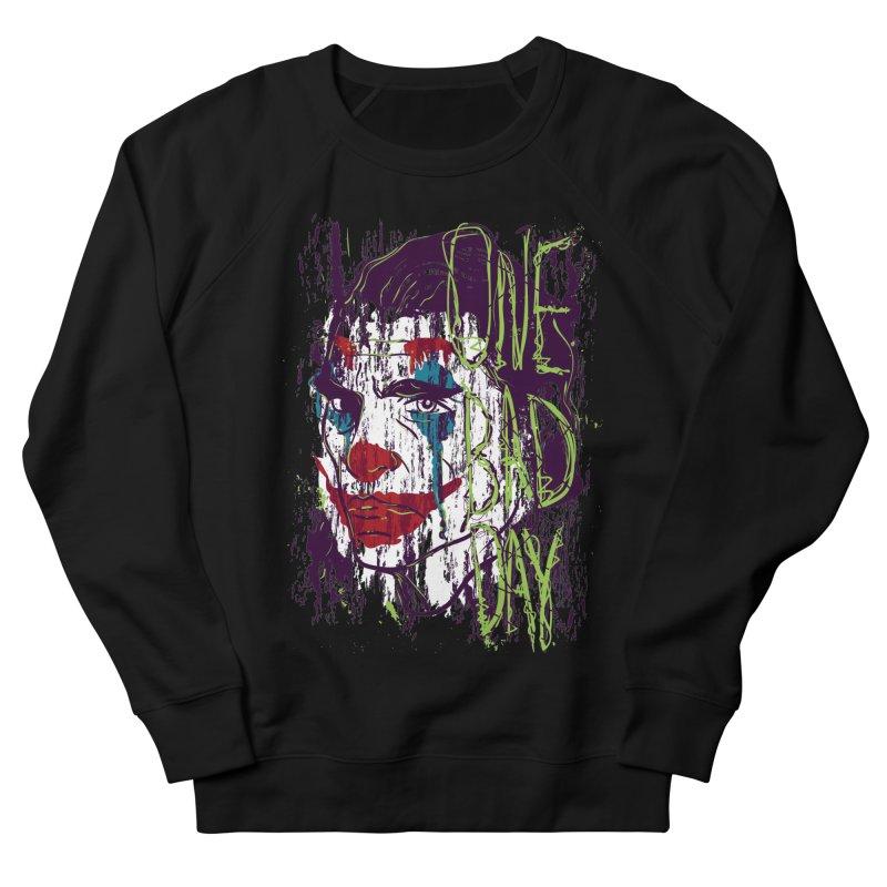 One Bad Day - Joker Women's French Terry Sweatshirt by quadrin's Artist Shop
