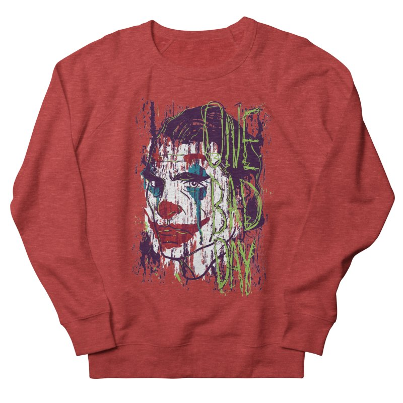 One Bad Day - Joker Men's French Terry Sweatshirt by quadrin's Artist Shop