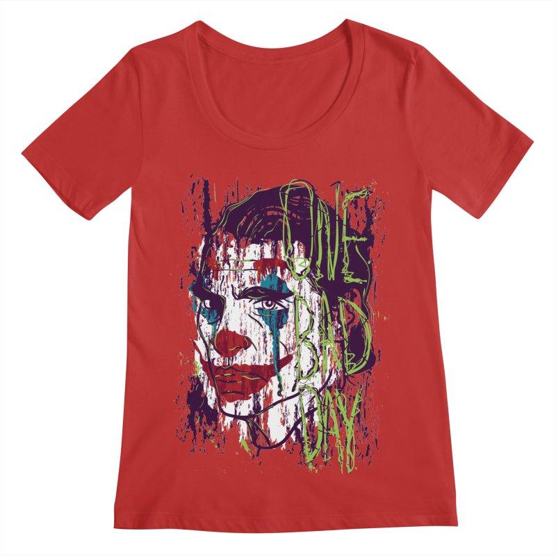 One Bad Day - Joker Women's Regular Scoop Neck by quadrin's Artist Shop