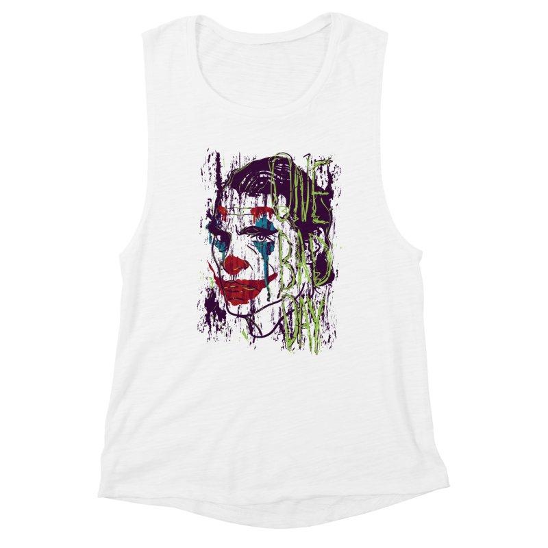One Bad Day - Joker Women's Muscle Tank by quadrin's Artist Shop