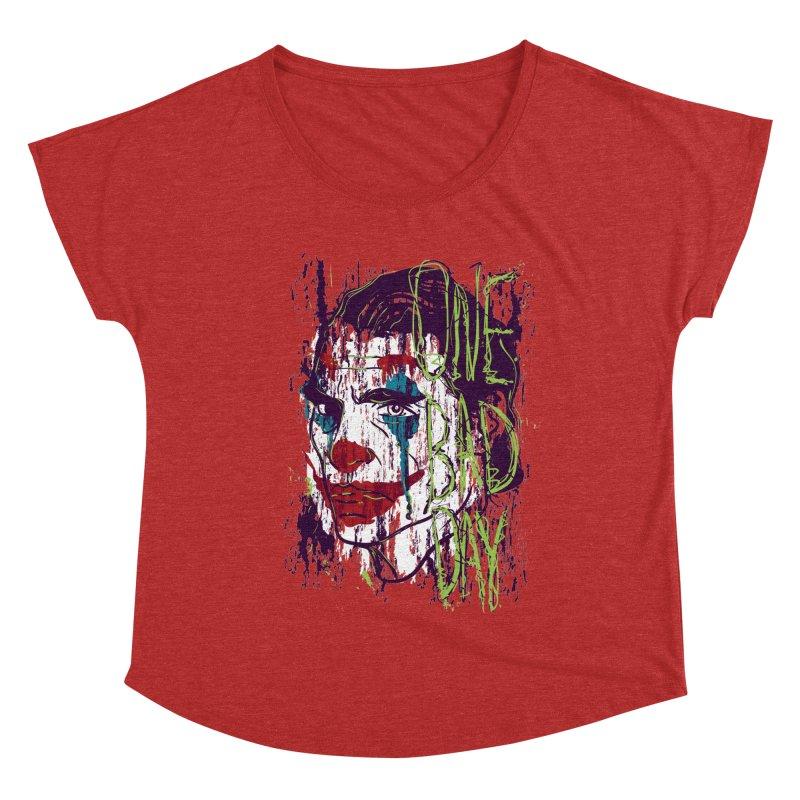 One Bad Day - Joker Women's Dolman Scoop Neck by quadrin's Artist Shop