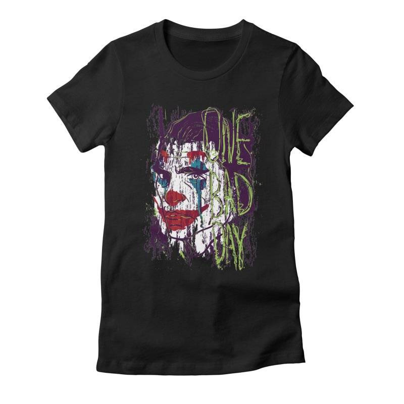 One Bad Day - Joker Women's Fitted T-Shirt by quadrin's Artist Shop