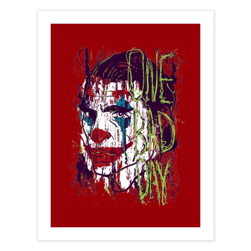 One Bad Day - Joker Home Fine Art Print by quadrin's Artist Shop