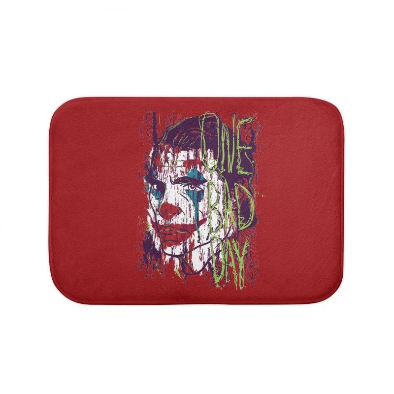 One Bad Day - Joker Home Bath Mat by quadrin's Artist Shop