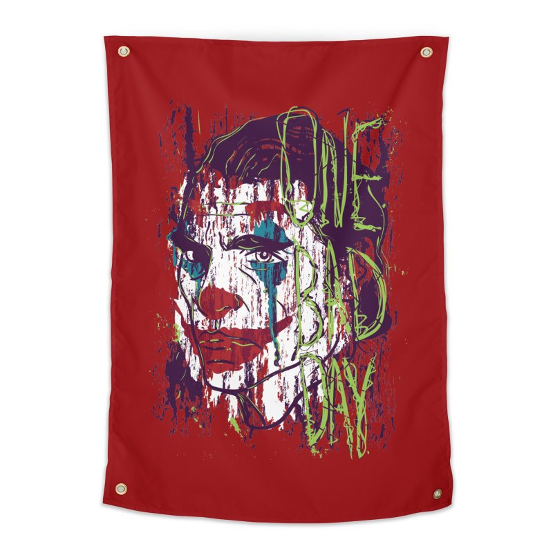 One Bad Day - Joker Home Tapestry by quadrin's Artist Shop