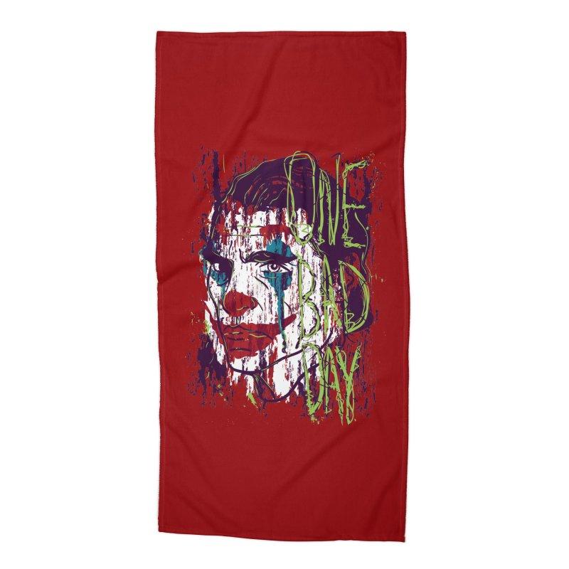 One Bad Day - Joker Accessories Beach Towel by quadrin's Artist Shop