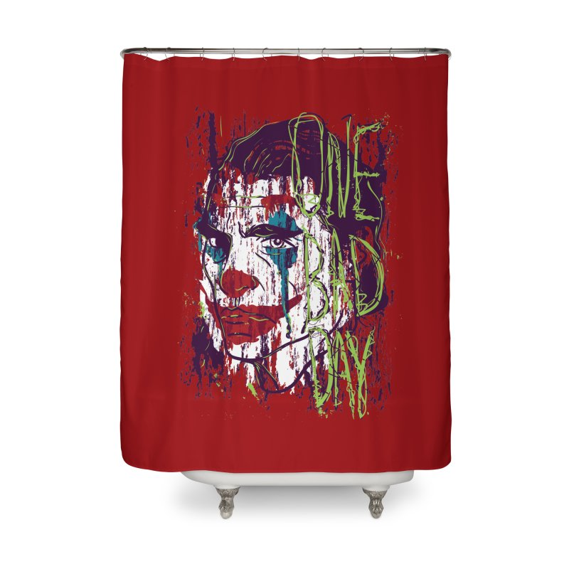 One Bad Day - Joker Home Shower Curtain by quadrin's Artist Shop