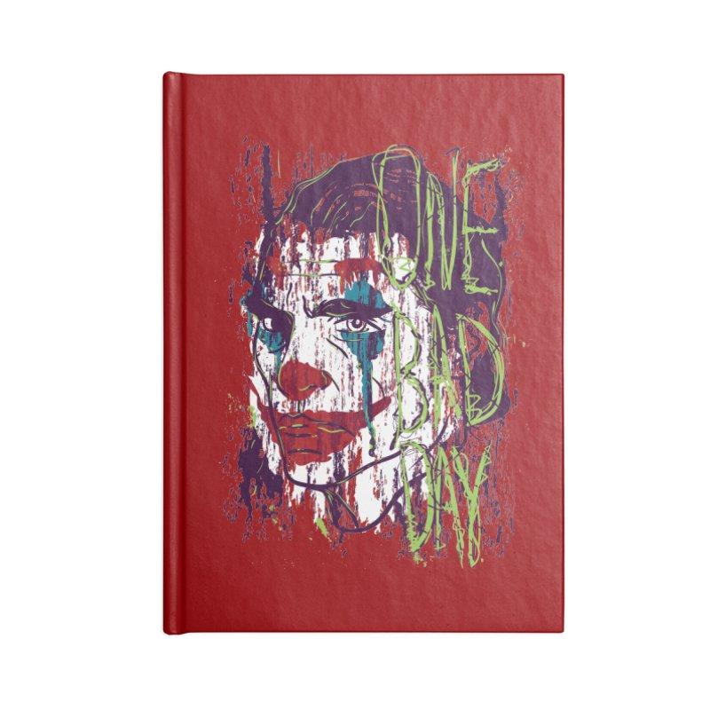 One Bad Day - Joker Accessories Blank Journal Notebook by quadrin's Artist Shop