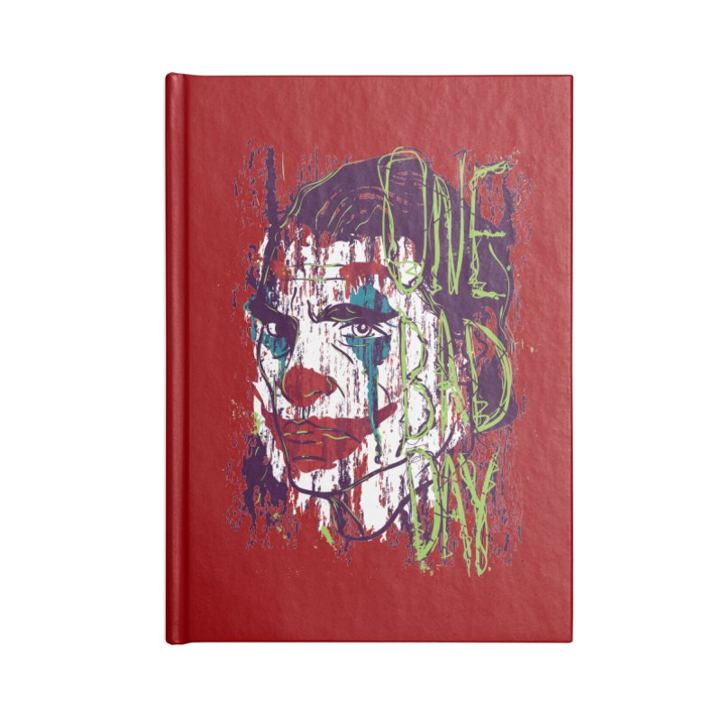 One Bad Day - Joker Accessories Lined Journal Notebook by quadrin's Artist Shop
