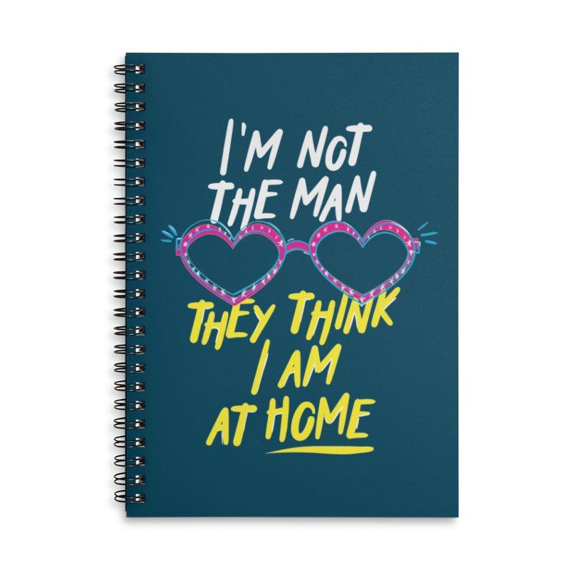 Rocketman Accessories Lined Spiral Notebook by quadrin's Artist Shop