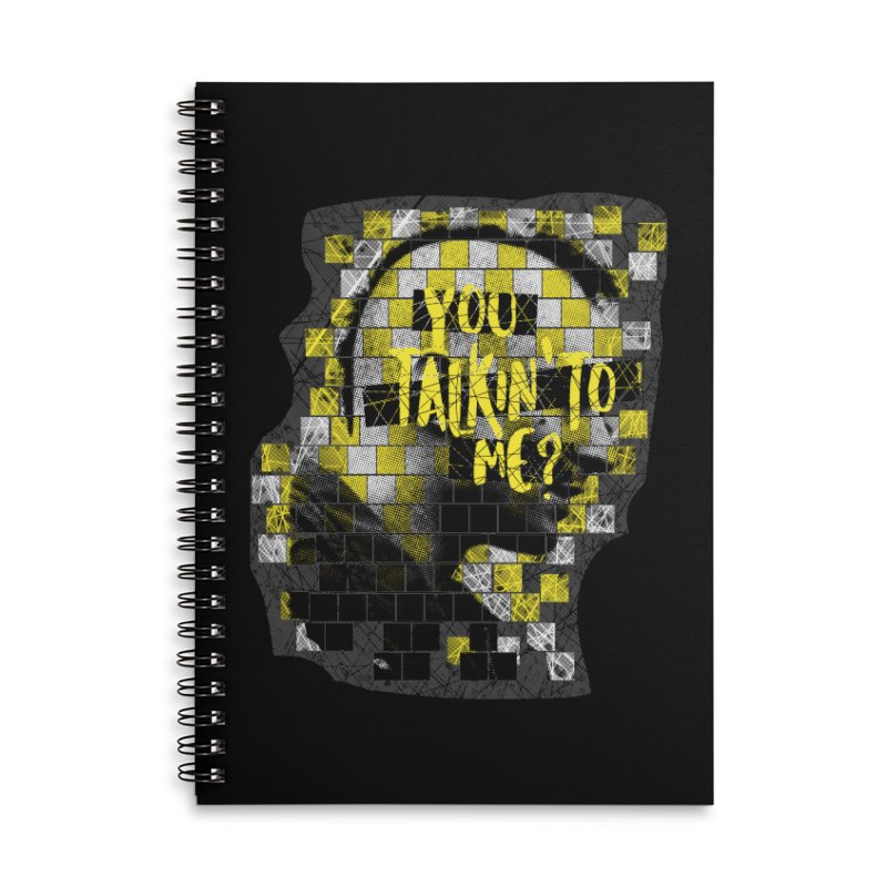 You talkin' to me? Accessories Lined Spiral Notebook by quadrin's Artist Shop