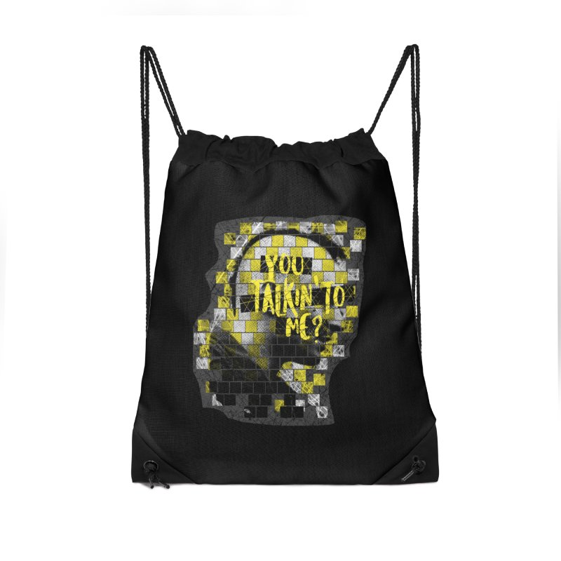 You talkin' to me? Accessories Drawstring Bag Bag by quadrin's Artist Shop