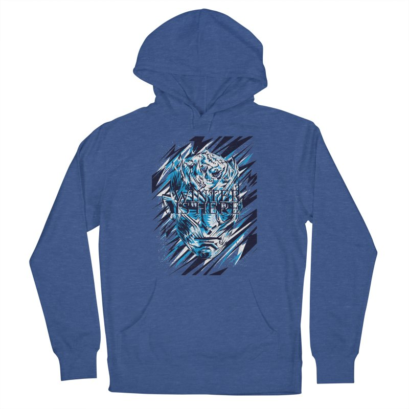 Winter is Here Men's French Terry Pullover Hoody by quadrin's Artist Shop