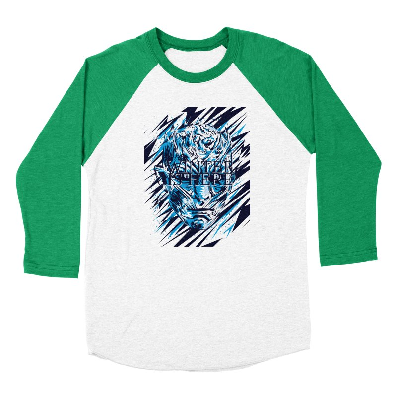 Winter is Here Men's Baseball Triblend Longsleeve T-Shirt by quadrin's Artist Shop