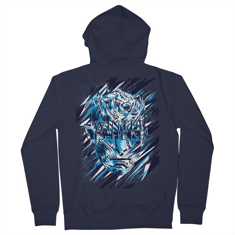 Winter is Here Women's French Terry Zip-Up Hoody by quadrin's Artist Shop