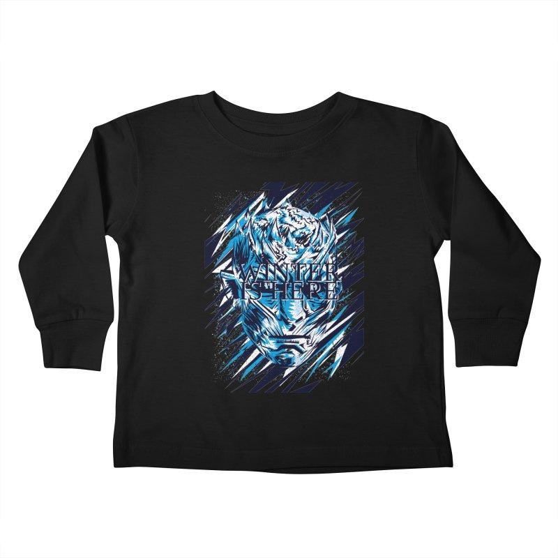 Winter is Here Kids Toddler Longsleeve T-Shirt by quadrin's Artist Shop