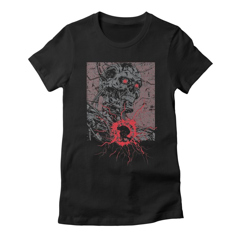 Terminator Women's Fitted T-Shirt by quadrin's Artist Shop