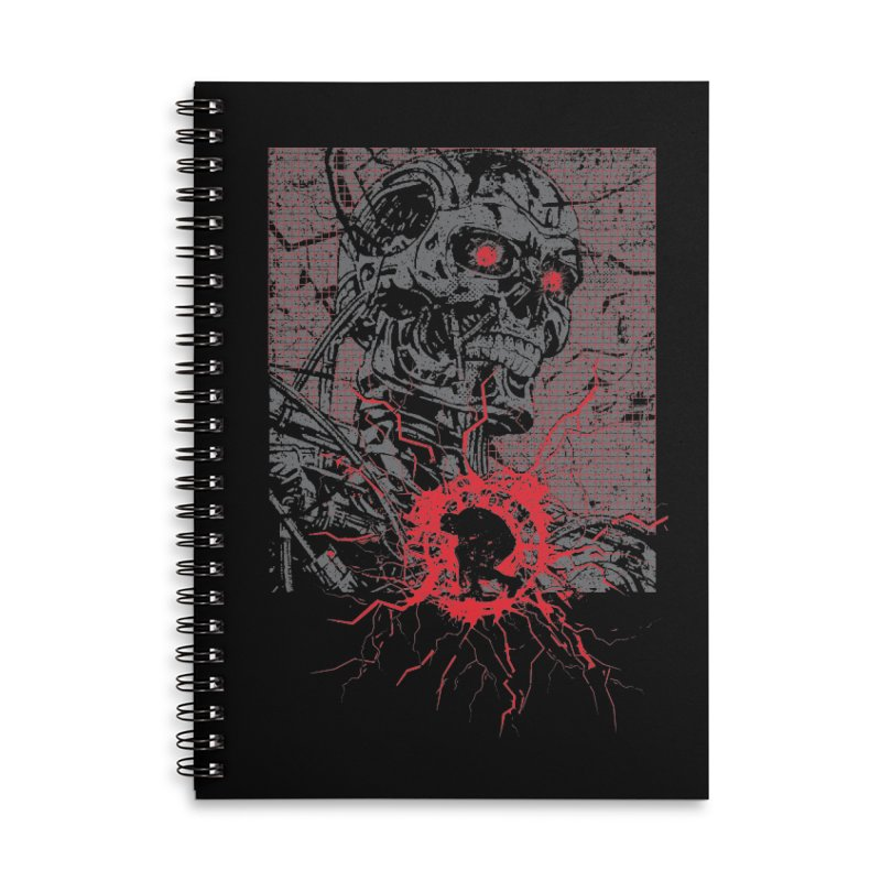 Terminator Accessories Lined Spiral Notebook by quadrin's Artist Shop