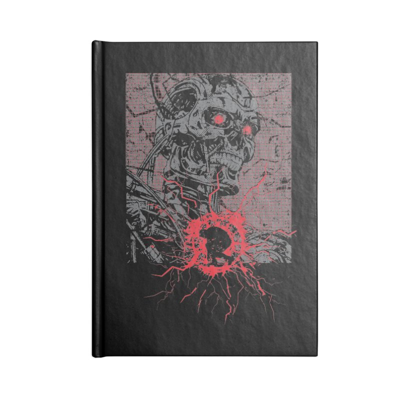 Terminator Accessories Lined Journal Notebook by quadrin's Artist Shop