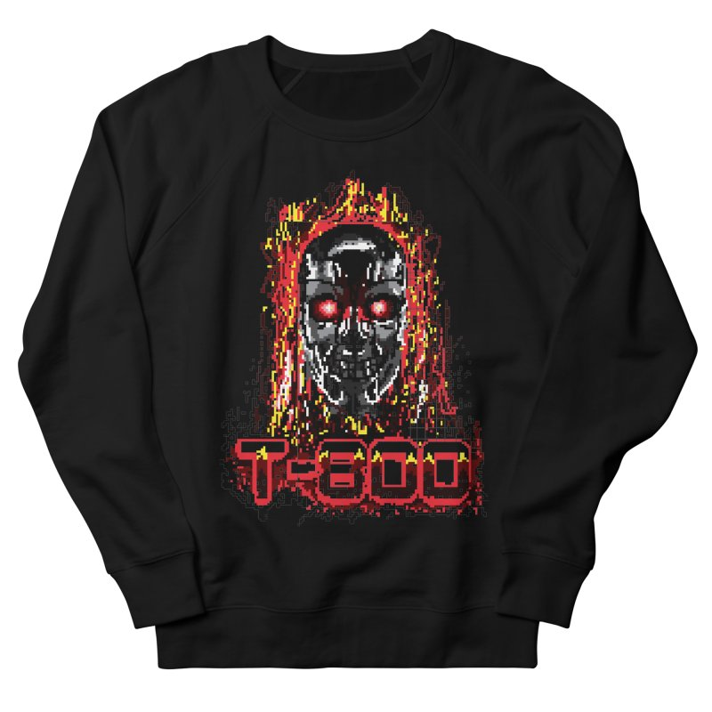 T-800 Men's French Terry Sweatshirt by quadrin's Artist Shop